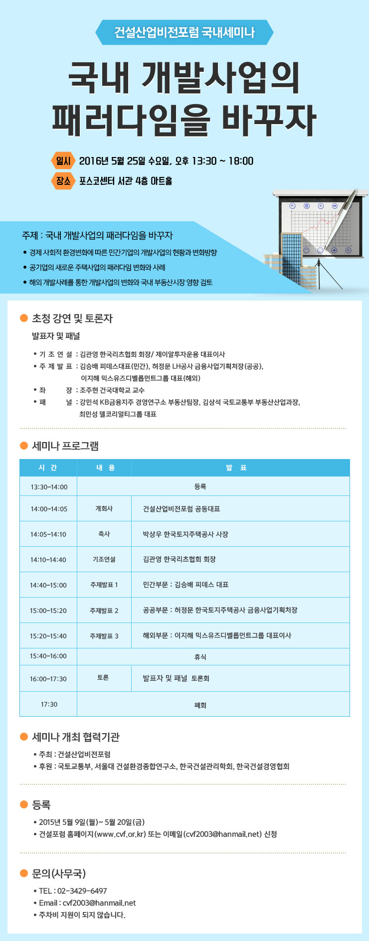 Read more about the article [2016 국내세미나]국내 개발사업의 패러다임을 바꾸자