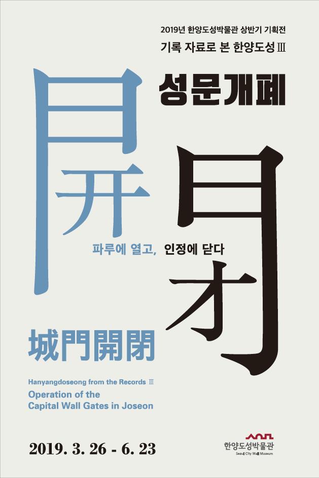 서울역사박물관, 한양도성'성문개폐(城門開閉)'기획전