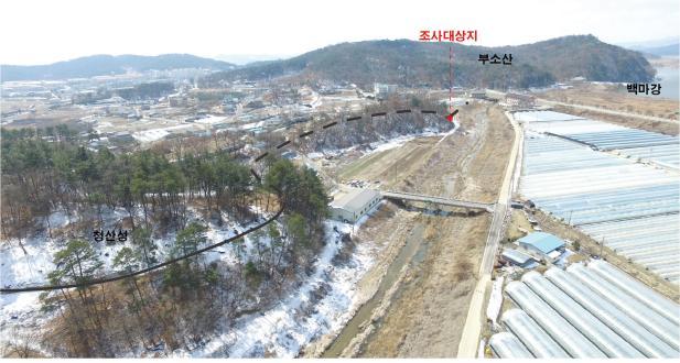 부여 나성(북나성) 청산성-부소산성' 연결 구간 성벽 '확인