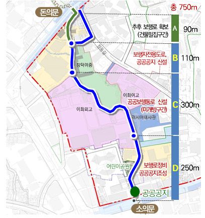 서울시, 훼손‧단절 '한양도성 정동 순성길' 750m 완성… 주말한정 개방